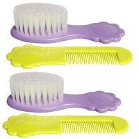 2PK Pigeon Comb & Brush Set Soft Nylon Bristles Baby/Infant/Kids Hair Grooming