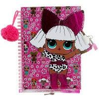 LOL Surprise Lockable Girls Diary Secret Journal Set for Children w/ Glitter Pen