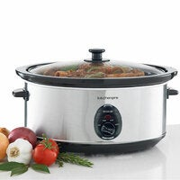Maxim Kitchen Pro 6L 320W Stainless Steel Food Slow Cooker w/ Ceramic Bowl/Pot