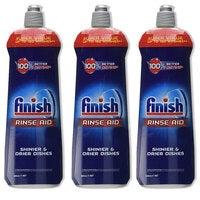 3x Finish 800ml Dishwashing Rinse Aid Shine/Protect Shiny/ Drier/Drying Dishes