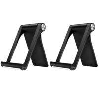 "2PK Sansai Multi-angle Desk Stand/Holder for Smartphones/Tablets 3.5-11"" Black"