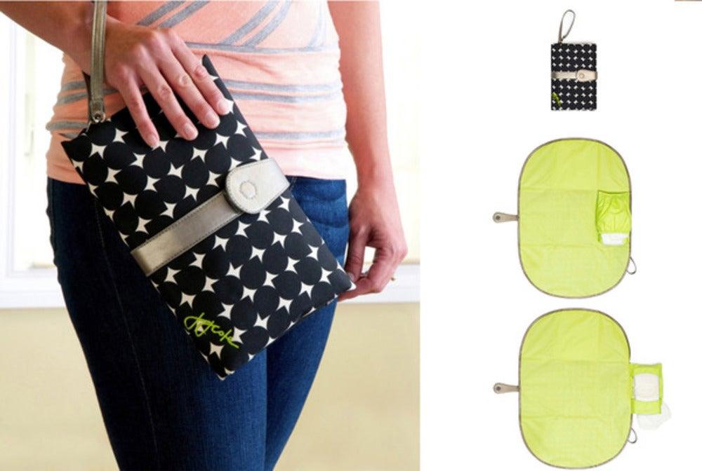 JJ Cole Baby Nappy//Diaper Changing//Change Clutch//Mat//Foldable Pad//Handbag//Wallet