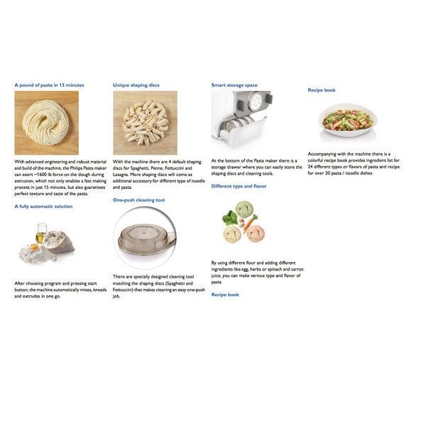 Philips HR2357 Electric Automatic Pasta Maker//Noodles Dough//Lasagna//Dumpling//pen