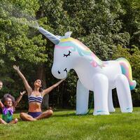 Giant Inflatable Unicorn Yard Sprinkler 2m Tall!