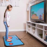 Retro 80s 8-Bit Gaming Floor Mat: 200 Built-in Games!