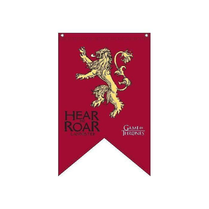 HBO Game of Thrones Mens Lannister Bath Lounge Logo Robe Red