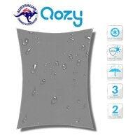 Qozy Waterproof canopy shade sail patio pool garden UV Square Rectangle Grey