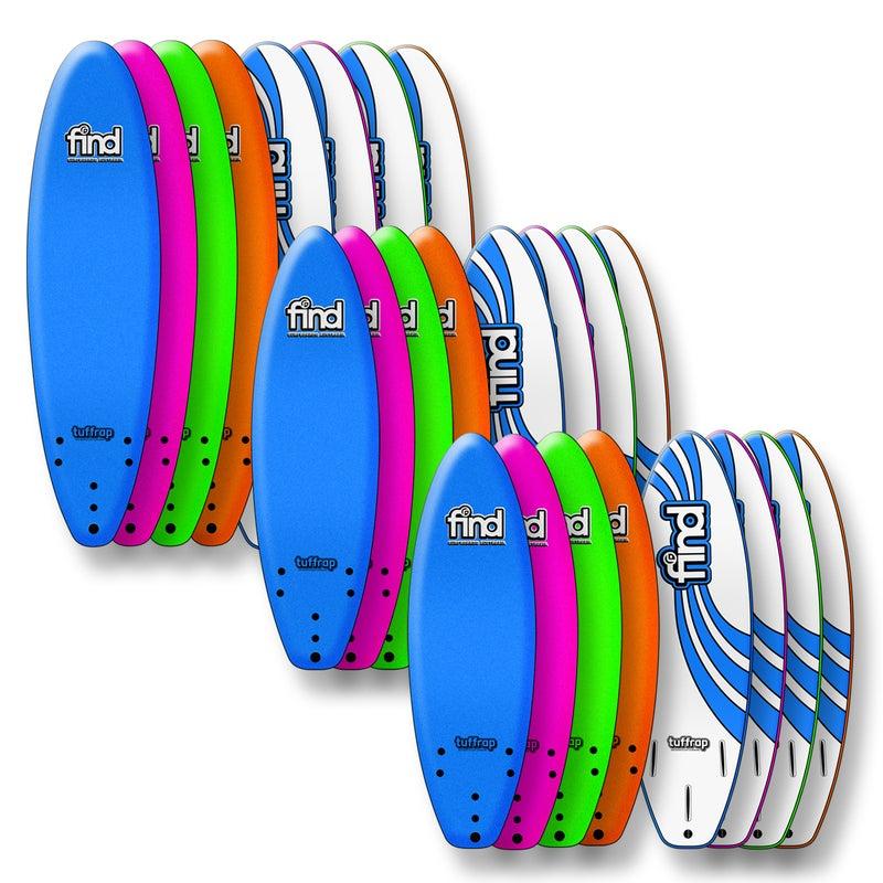 FIND™ 7'0'' Tuffrap Soft Surfboard Thruster NEON BLUE - 3 ...  Neon Surfboards