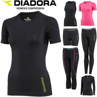 DIADORA Ladies Compression Sports Tights Thermal Fitness Running Gym Yoga Active