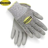 DIADORA Utility Anti Cut Work Gloves Protective Utility Work Safety - Grey/Black