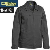 BISLEY Cotton Drill Water Repellant Jacket Warm Flannelette Lining Winter Coat