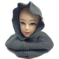 Womens Knit BALACLAVA Ski Head Scarf Mask Warm Winter Hat Knitted Cap Ladies New