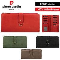 Pierre Cardin Ladies Women's RFID Italian Leather Wallet Purse Credit Card Holder