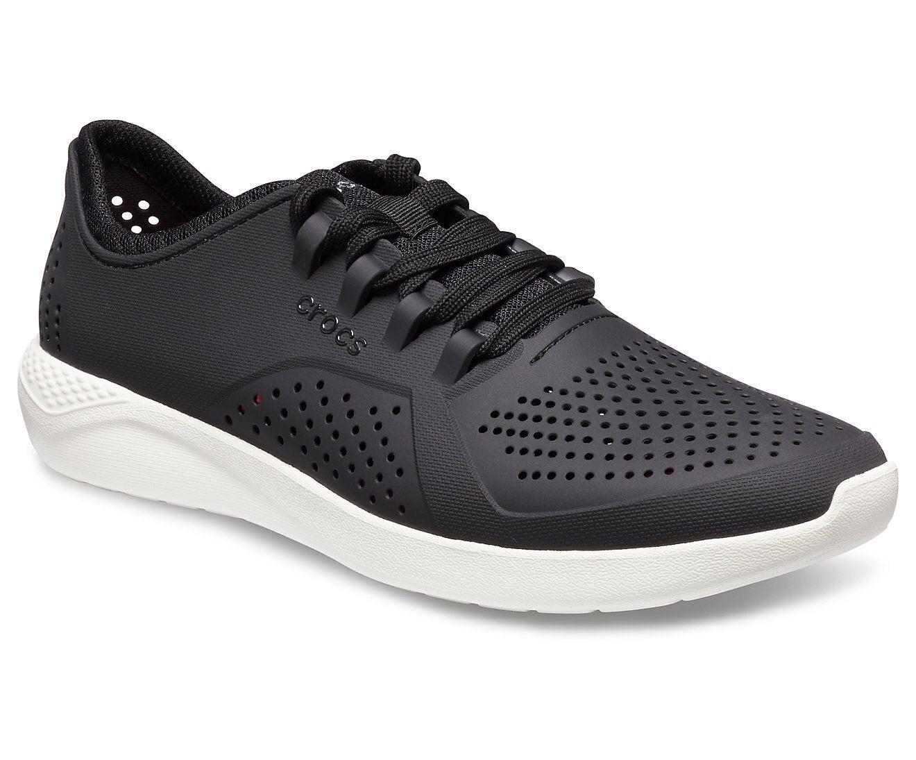 Crocs Men's LiteRide Pacer Sneakers Shoes Runners BlackWhite
