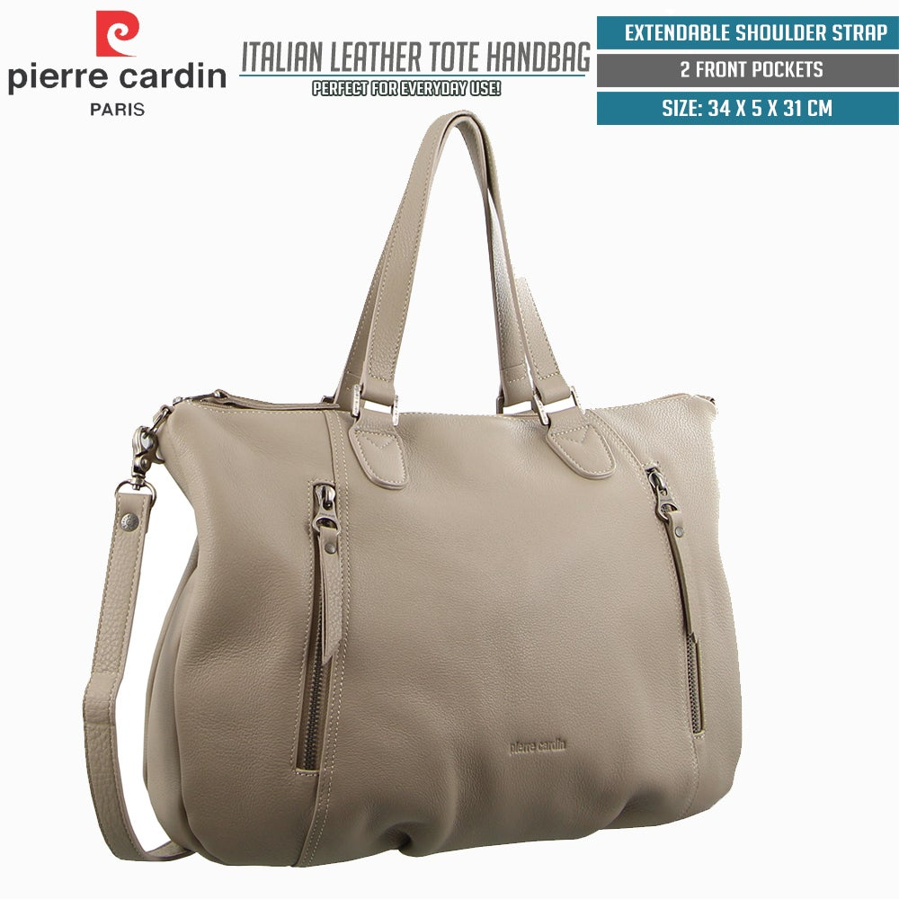 new release new styles classic styles Pierre Cardin Italian Leather Tote Handbag Shoulder Bag Office ...