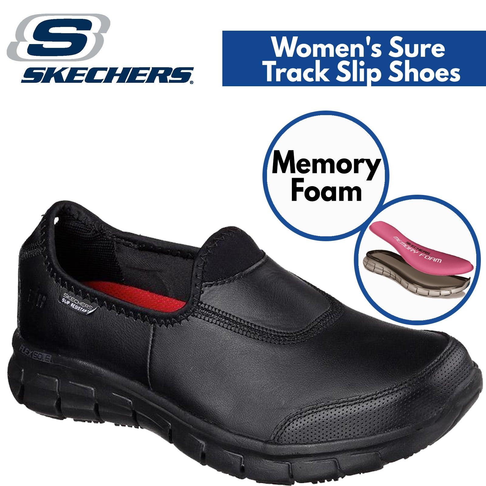 skechers memory foam black
