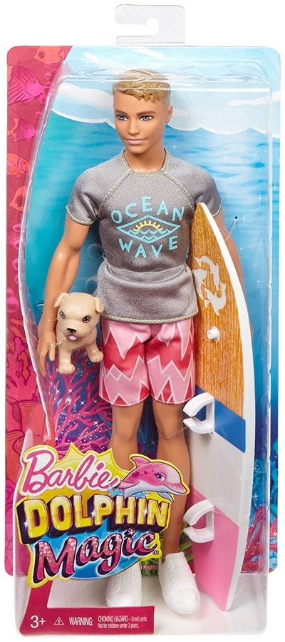 Barbie Dolphin Magic Ken Doll With Pup And Surfboard Buy