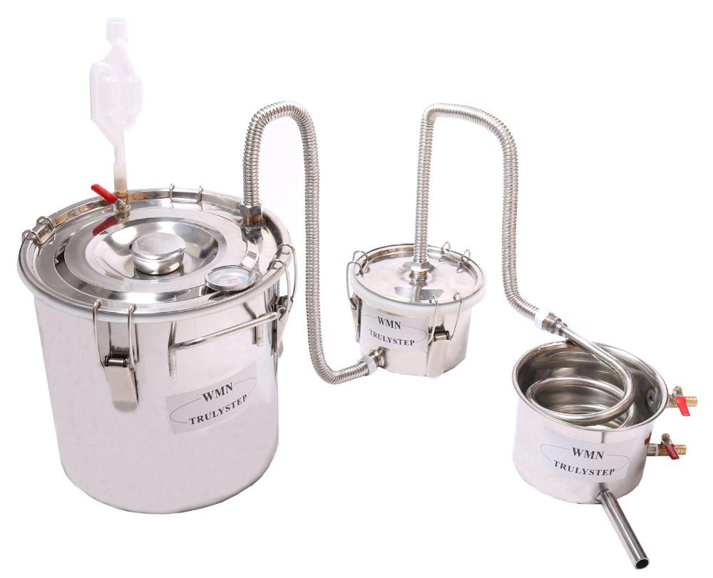 Stainless Steel Alcohol Ethanol Distiller ONLY US STOCK,2-4 DAYS DELIVERY 20L Home Brew Still Wine Making Tools Boiler,12L,20L,35L