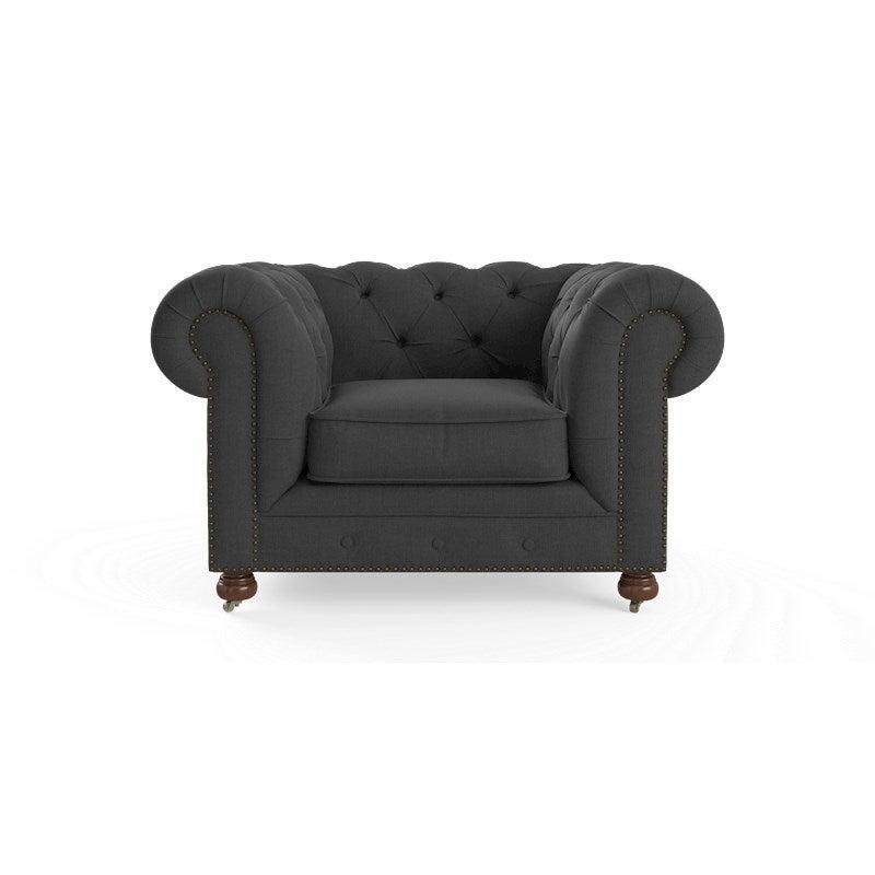 Camden Chesterfield Armchair in Night Black | Buy ...