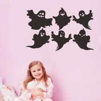 6 Pcs Variety Halloween Ghost DIY Wall Sticker Removable Wallpapers Vinyl Art Decal Decor Waterproof Stickers Household Home Wall Sticker Poster Mural Decoration for Bedroom Living Room