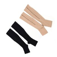 Pairs of Zipper Open Toe Compression Socks