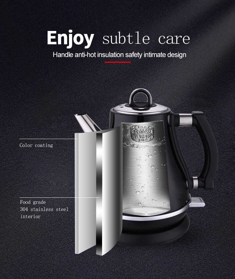 1 2l Colorful 304 Stainless Steel Electric Kettle 1500w