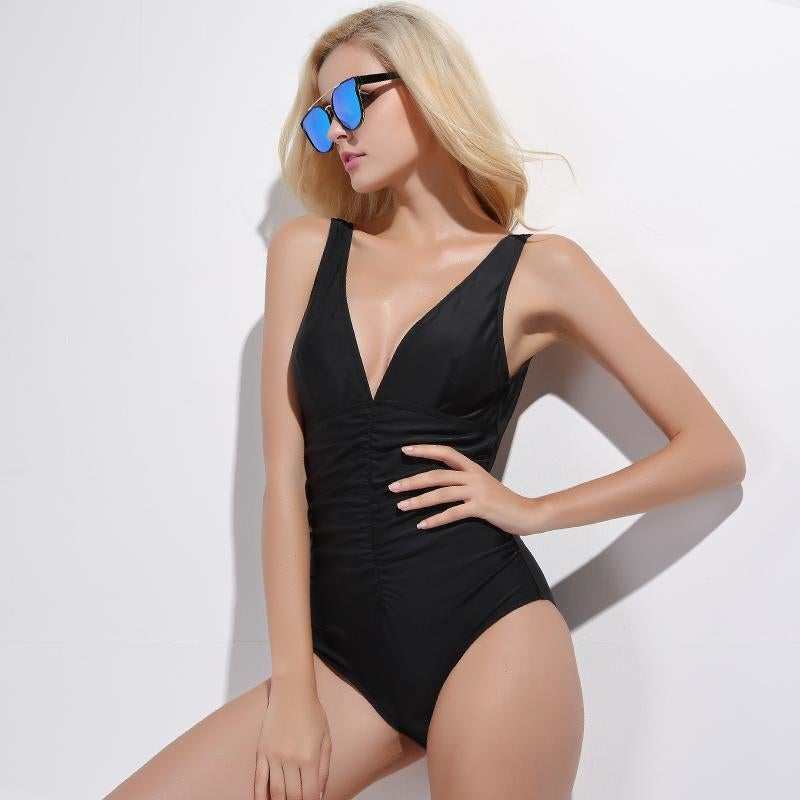 One Piece Swimsuit High Cut Swimsuit Women Bathing Suit Push Up Pad Wetsuit Diving Suit  Buy -5671