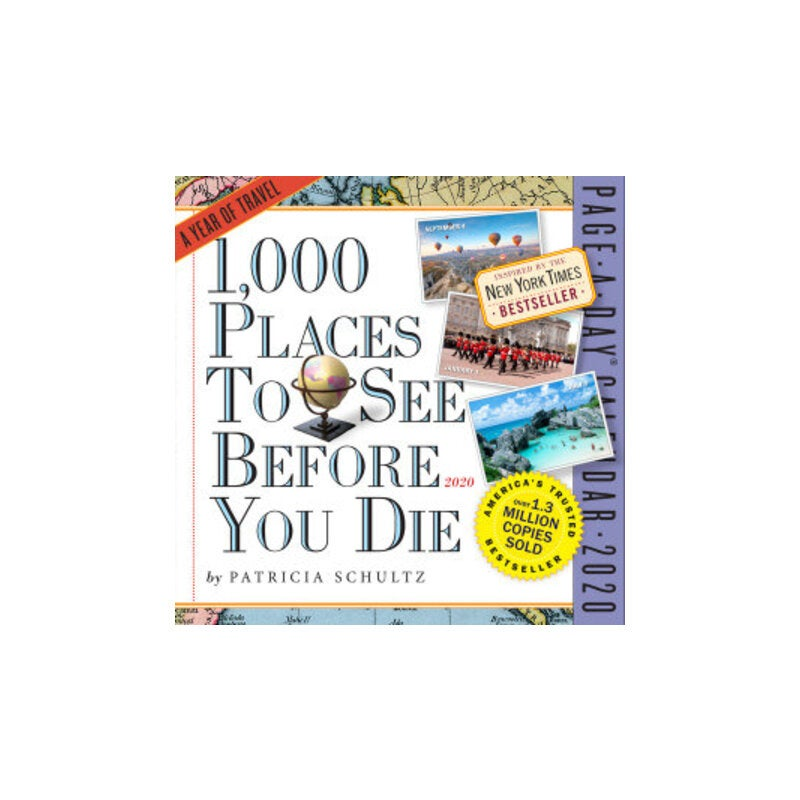 New York Times Bestseller List 2020.1 000 Places To See Before You Die 2020 Colour Page A Day Desk Calendar
