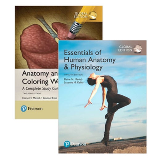 Essentials of Human Anatomy & Physiology, Global Edition + Anatomy and  Physiology Coloring Workbook : A Complete Study Guide, Global Edition