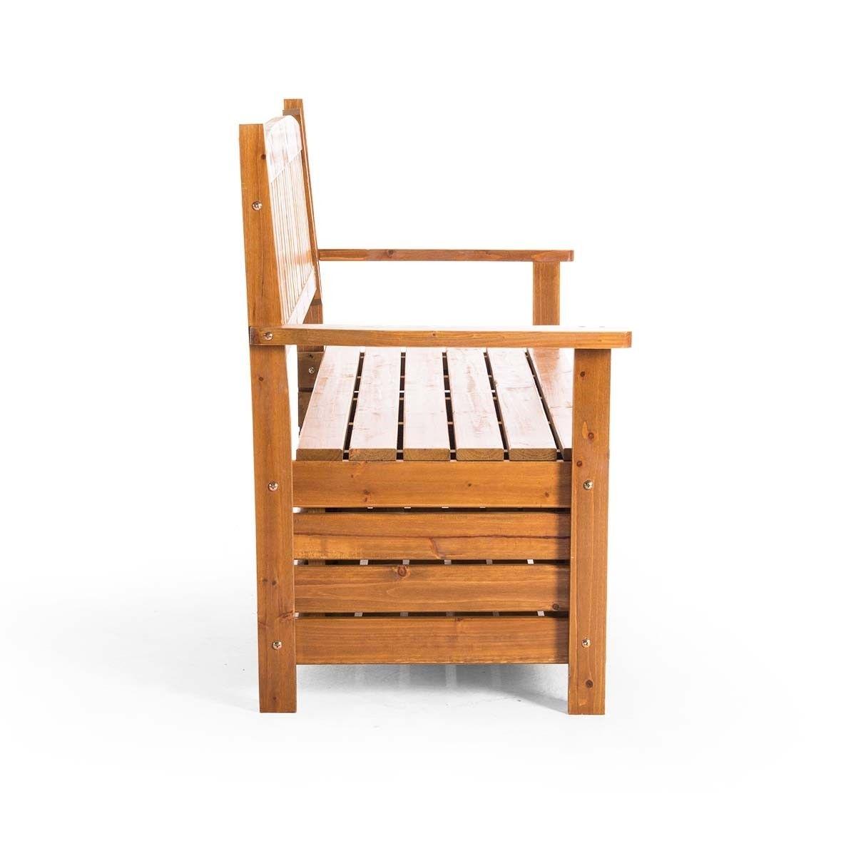 1 5m Wooden Storage Bench Garden Chest Buy Outdoor Benches 363823