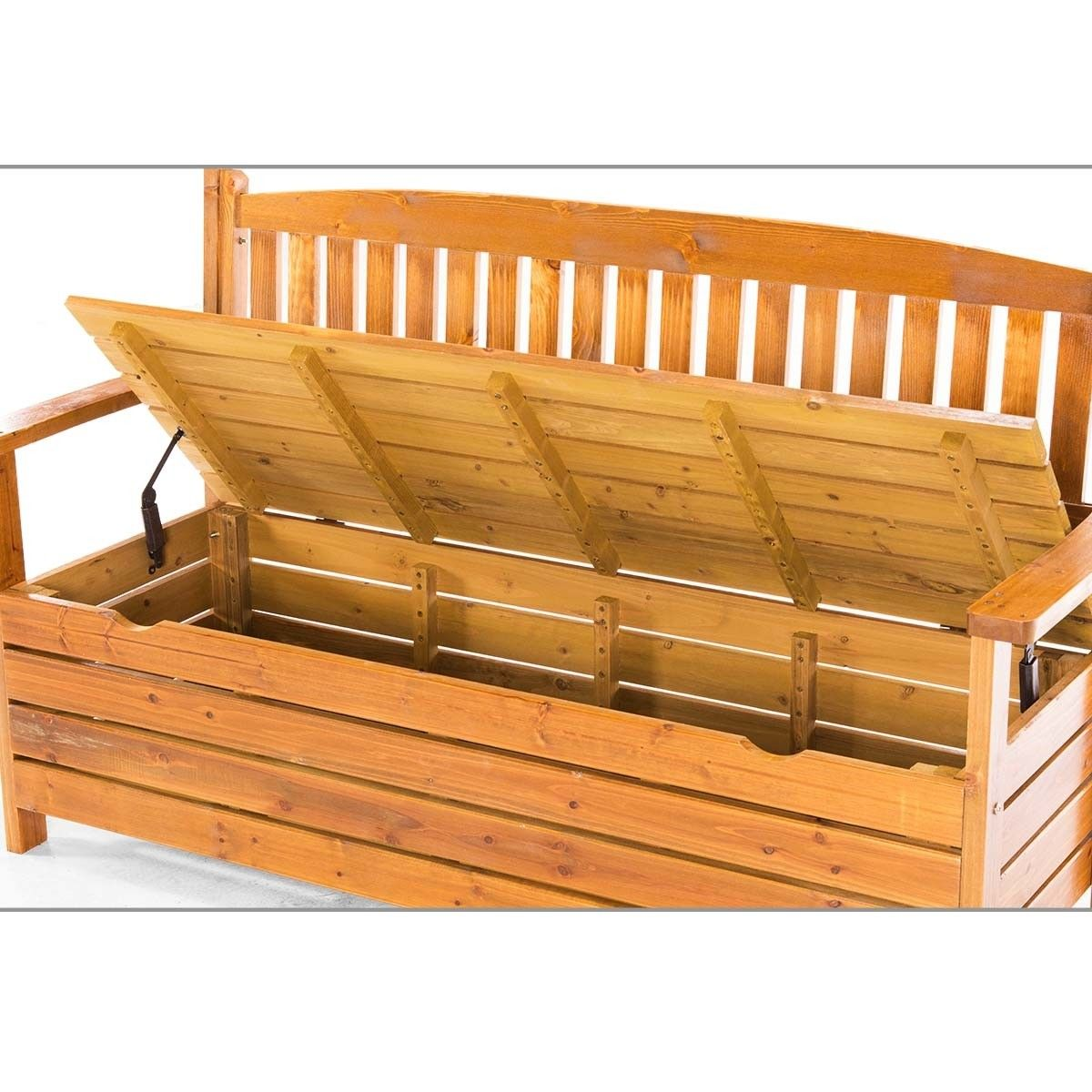 Stupendous 1 5M Wooden Storage Bench Garden Chest Inzonedesignstudio Interior Chair Design Inzonedesignstudiocom