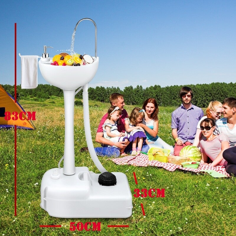 Portable Outdoor Basin Wash Sink Gray-19L | Buy Camping ... on Outdoor Sink With Stand id=13627