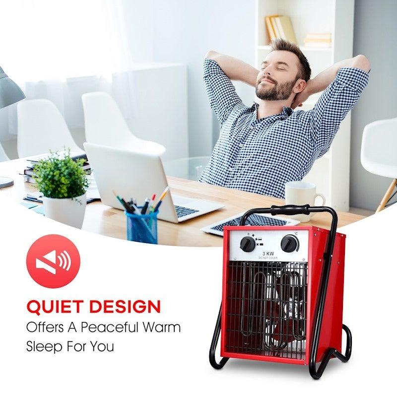 3000W Electric Industrial Fan Heater Garage Fast Heating ...