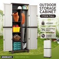 Shogun Outdoor Storage Cabinet Vertical Tool Shed 173CM