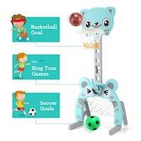 3-in-1 Basketball Football Ring Goal Game for Kids