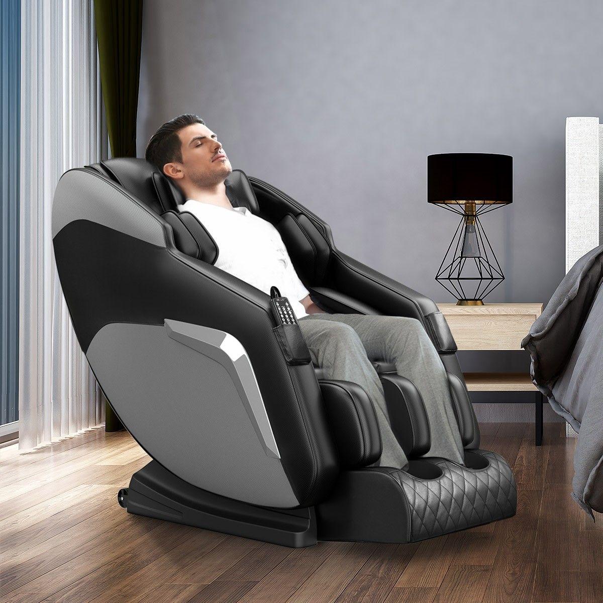 HOMASA Black Full body Massage Chair Zero Gravity Recliner ...