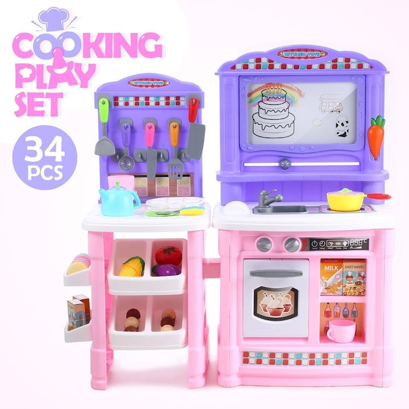 Childrens Kitchen Play Set And Cookware Buy Play Kitchens Toy