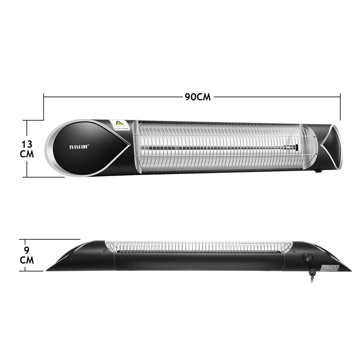 Maxkon 2500w Carbon Fibre Infrared Heater Instant Heat