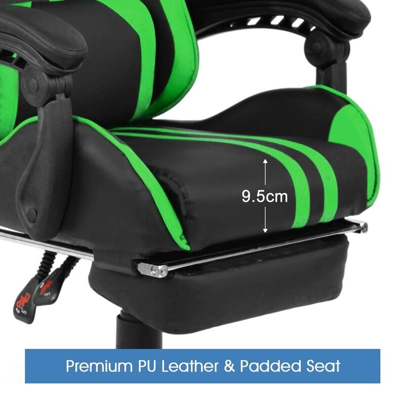 Home Office Computer Gaming Chair W/ Footrest And Tilt