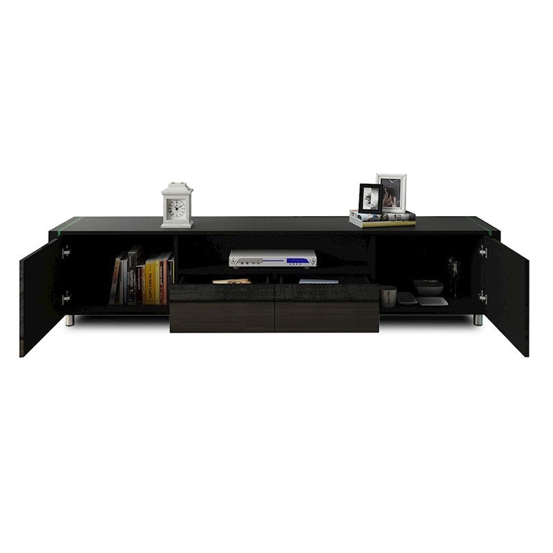 TV Cabinet Stand Unit 185cm Lowline Wood Furniture Gloss