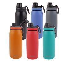 2x Oasis 780ml Double Wall Insulated Stainless Steel Sports Water Bottle Steel