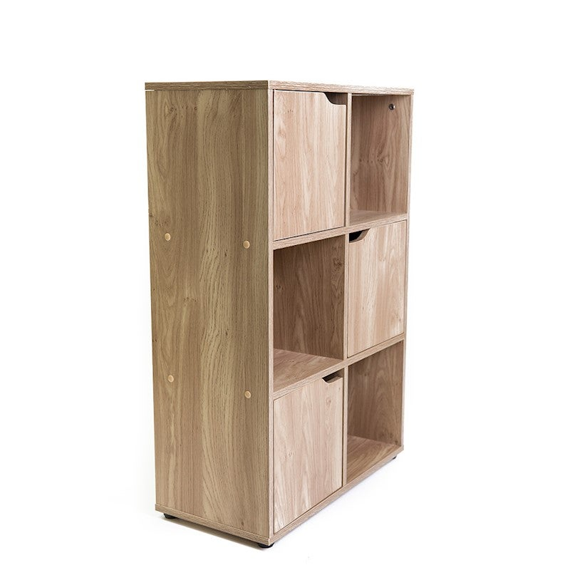 Turin 6 Cube 3 Door Multipurpose Shelf Buy Bookcases