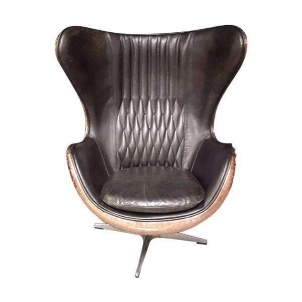 Tremendous Aviator Leather Real Copper Admiral Accent Chair Beatyapartments Chair Design Images Beatyapartmentscom