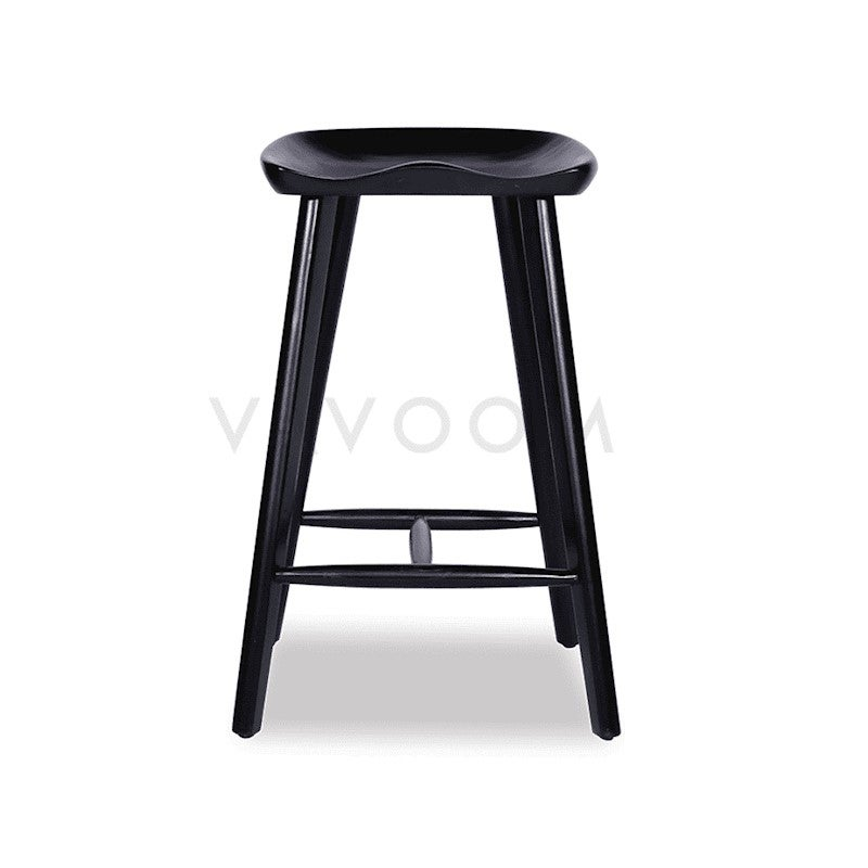 Tremendous Saddle Tractor Kitchen Stool In Black American Ash Gmtry Best Dining Table And Chair Ideas Images Gmtryco