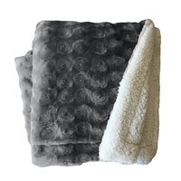 Plush Fleece Sherpa Backed Reversible Throw