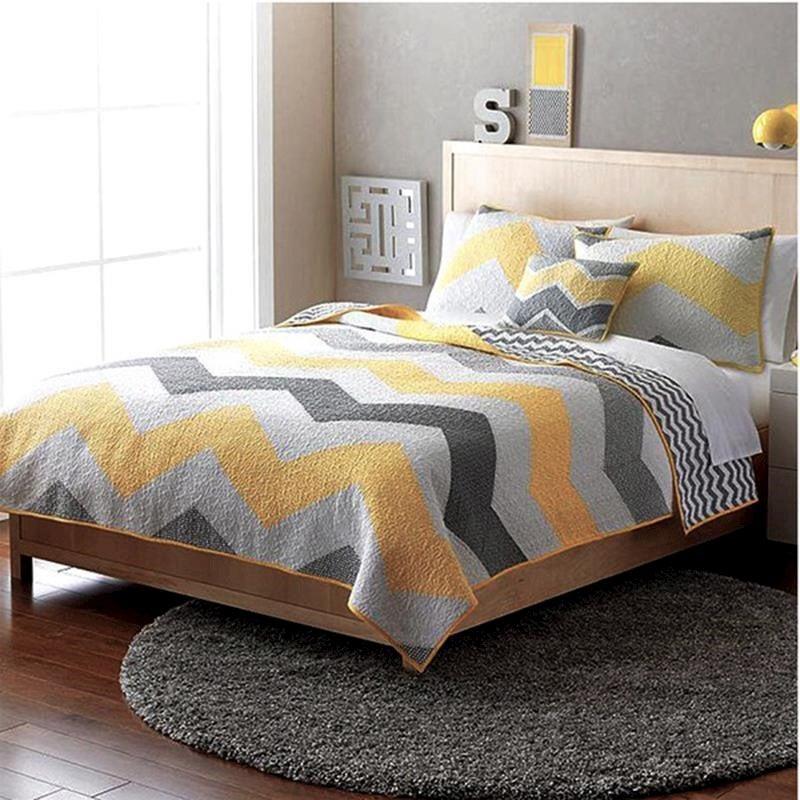 Luxury 100 Cotton Coverlet Bedspread Set Quilt King