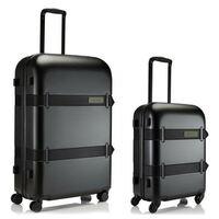 Crumpler Vis A Vis Duo Set Carry On + Large Luggage - Matte Black