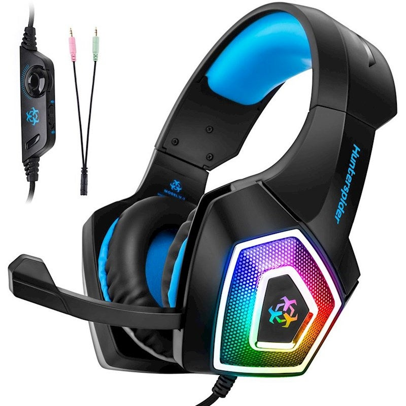 Universal Gaming Headset With Mic Ear Headphone Compatibility Headset For Ps4 Xbox Laptop Computer Tablet Ipad Mobile Phone Blue Buy Gaming Headsets 667016787617
