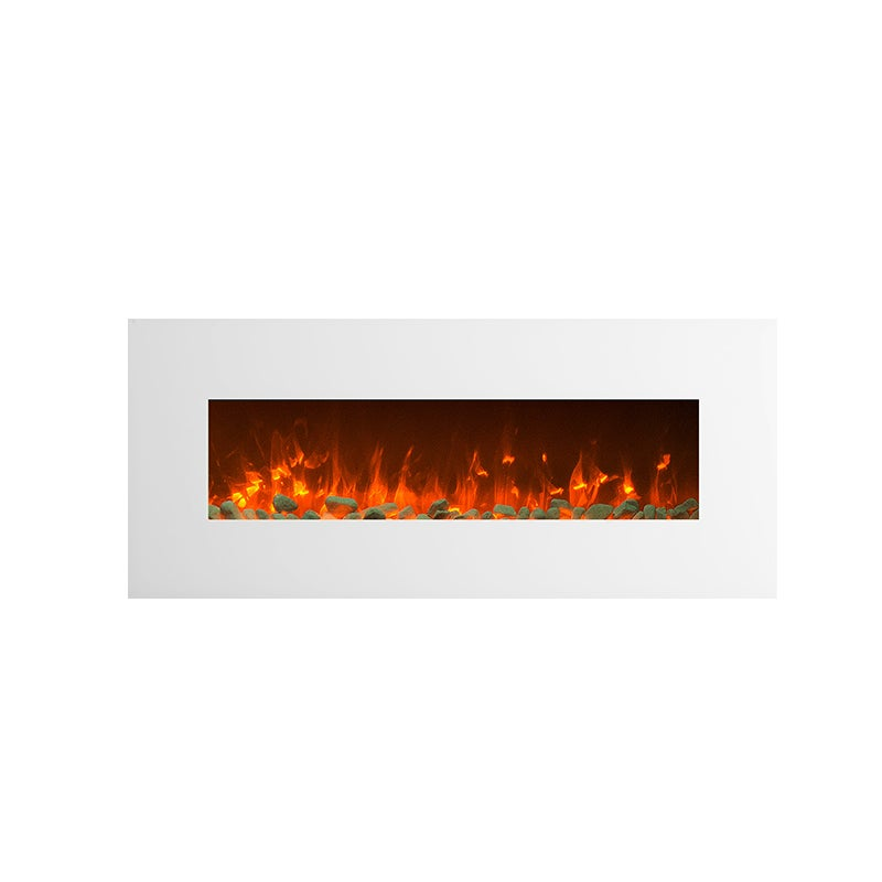1500w 50 White Wall Mounted Electric Fireplace Heater Fire