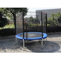 8ft Trampoline & Enclosure Set with Safety Net and Ladder